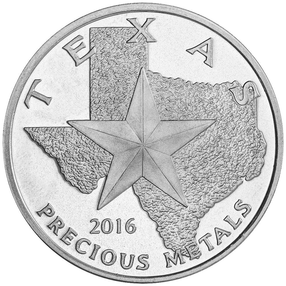 Buy 2016 Texas Silver Round