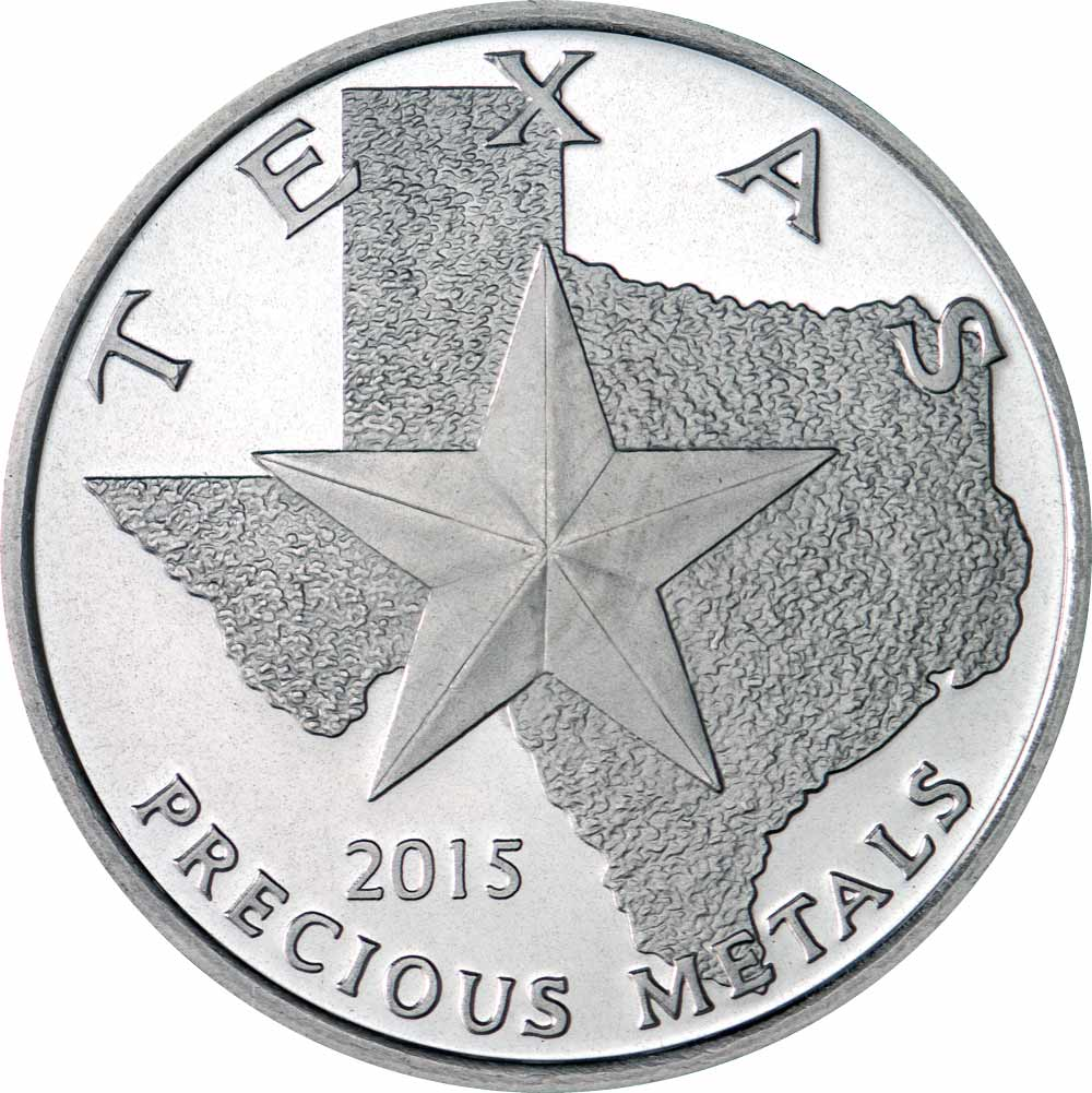 Buy 2015 Texas Silver Round