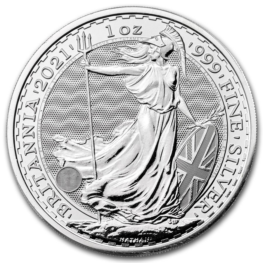 2021 Great Britain 1 oz Silver Britannia BU - Reverse