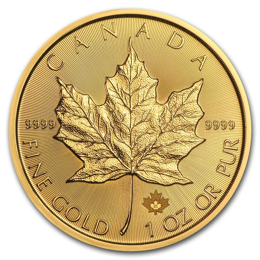 Buy 2021 Canadian Maple Leaf Gold Coin