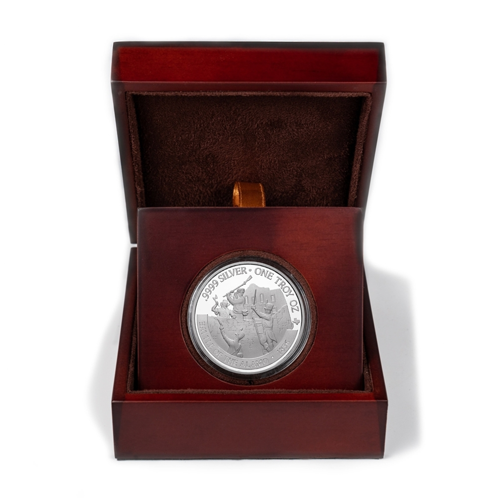 Buy 2021 Texas Silver Round with Wooden Display Case *Texas Edition*