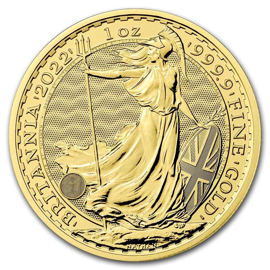 2022 British Royal Mint 1 oz Gold Britannia - Reverse