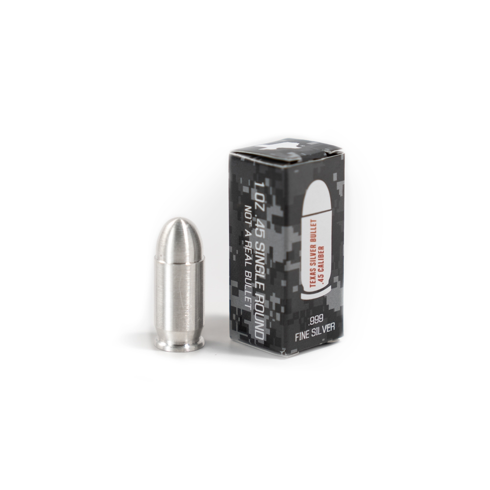 Buy 1 oz Silver Bullet .45 Caliber Pure Silver