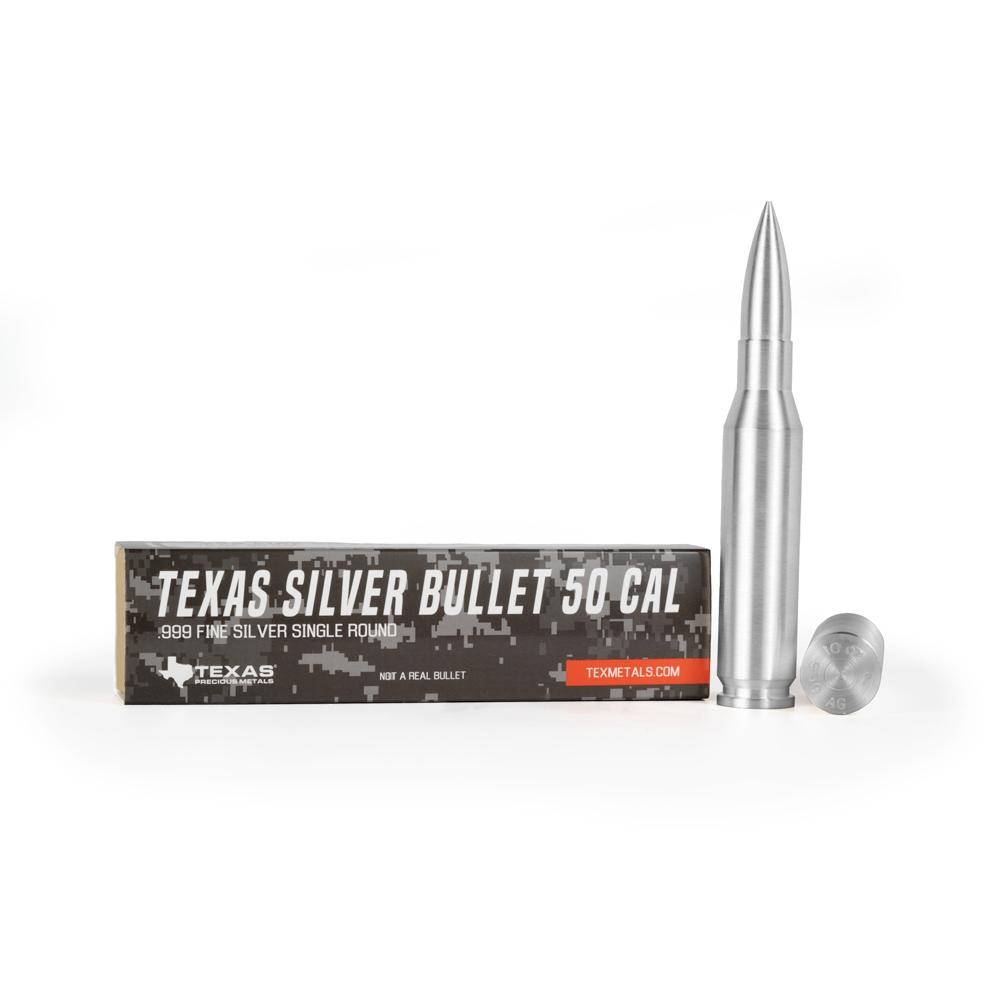 .50 Caliber Silver Bullet - Texas Silver Ammo
