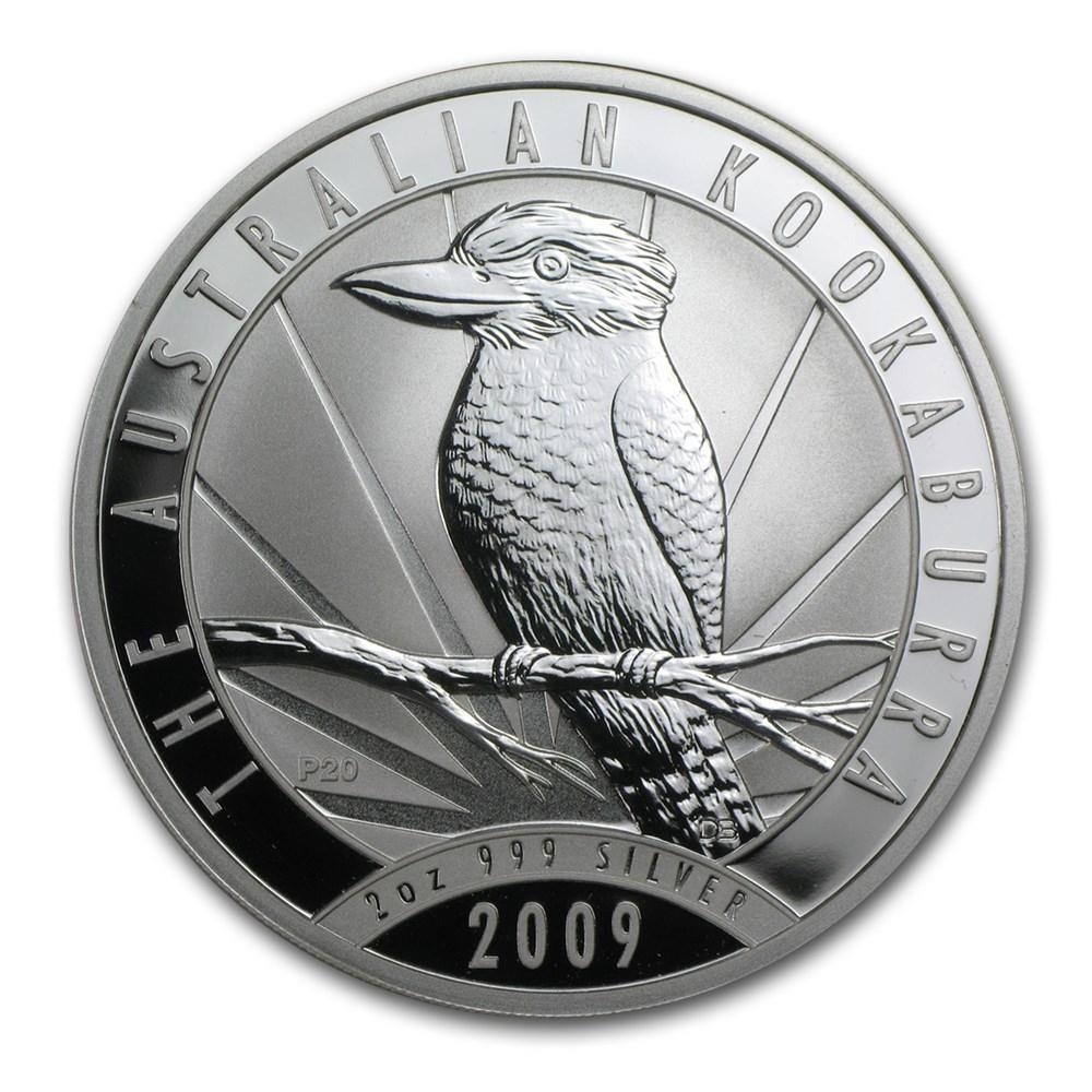 2 oz Australian Perth Mint Silver Kookaburras (Any Year)