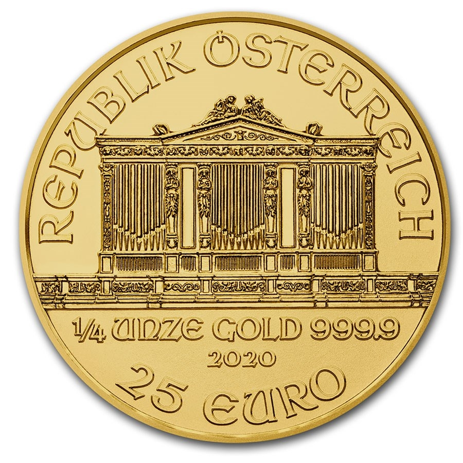1/4 oz Austrian Gold Philharmonic Coin - Reverse