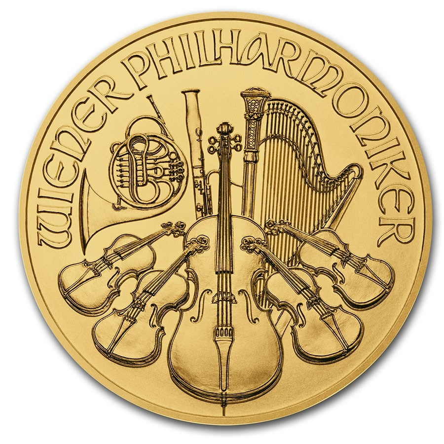 1/2 oz Austrian Gold Philharmonic Coin (Random Year)