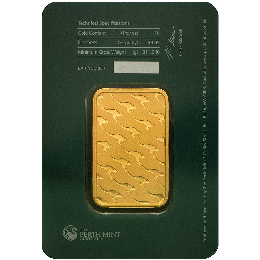 Buy 10 oz Perth Mint Gold Bars