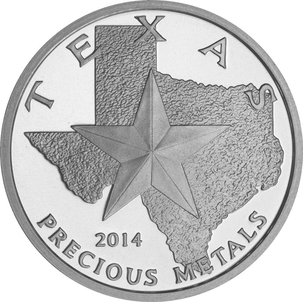 Buy 2014 Texas Silver Round