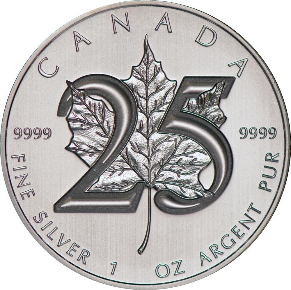 Buy 25th Anniversary Silver Canadian Maple Leaf