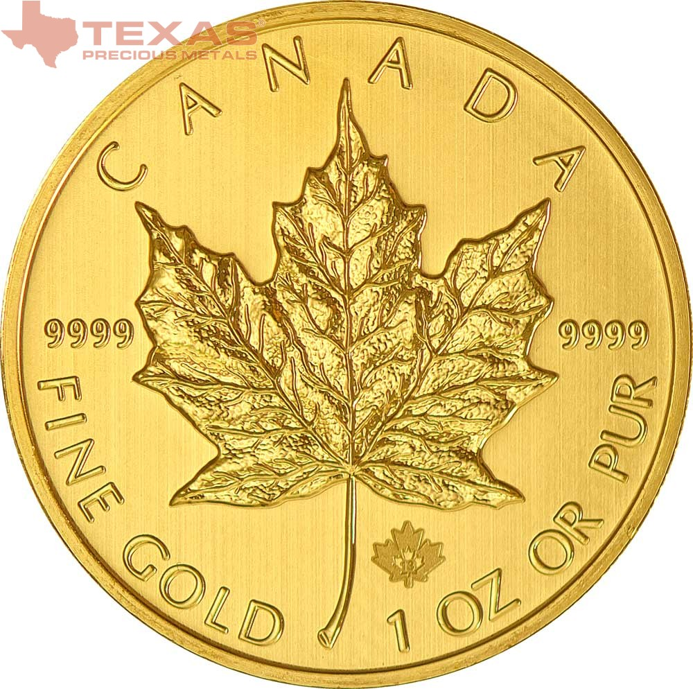 Canadian Maple Leaf Gold Coin Any Year Tube Of 10