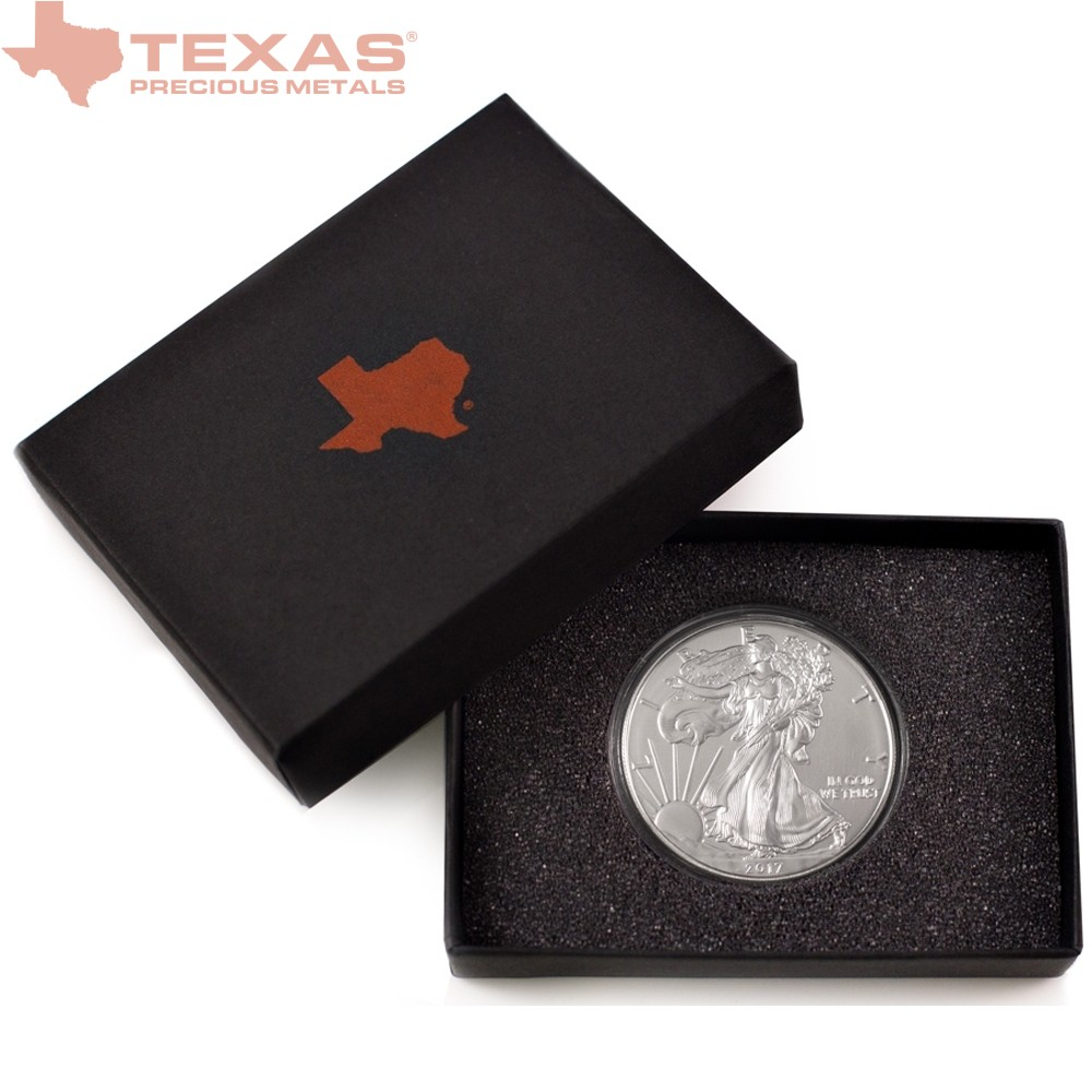 2018 American Silver Eagle Coin with Wooden Display Box | Texas ...
