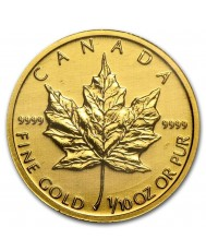 1/10 oz Canadian Maple Leaf Gold Coin (Any Year)