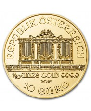 1/10 oz Austrian Gold Philharmonic Coin (Any Year)