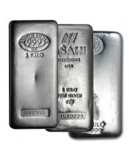 1 Kilo Silver Bar (Varied Condition, Any Mint)