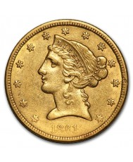 $5 Liberty Gold Half Eagle - XF (Dates Our Choice)