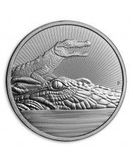 2 oz Australian Perth Mint Silver Crocodile Mother & Baby