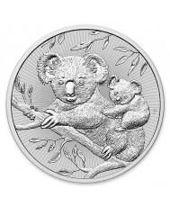 2 oz Australian Perth Mint Silver Koala Mother & Baby
