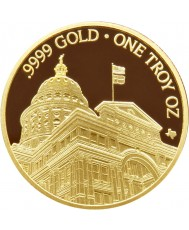 2020 Texas Gold Round with Wooden Display Box