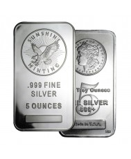 5 oz Silver Bar (Varied Condition, Any Mint)