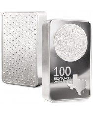 100 oz Texas Mint Silver Bar