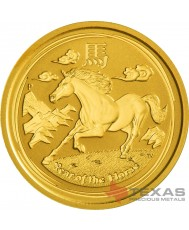 2014 Year of the Horse - Lunar Series II - 1/10 oz Gold