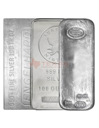 100 oz Silver Bar (Varied Condition, Any Mint)
