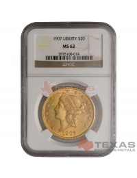 $20 Liberty Gold Double Eagle - MS-62 PCGS/NGC (Dates Our Choice)