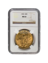 $20 Saint-Gaudens Gold Double Eagle - MS-62 PCGS/NGC (Dates Our Choice)