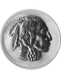 1 oz Silver Buffalo Round- Reverse Proof