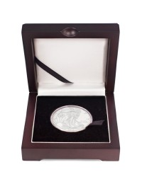 2019 American Silver Eagle Coin with Wooden Display Box