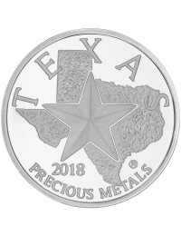 2018 Texas Silver Round with Wooden Display Box