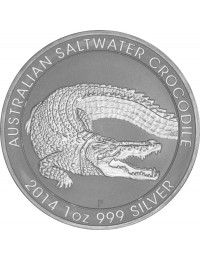 2014 Perth Mint Silver Saltwater Crocodile