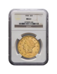 $20 Liberty Gold Double Eagle - MS-61 PCGS/NGC (Dates Our Choice)