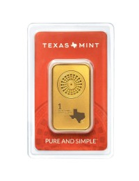 1 oz Texas Mint Gold Bars w/ Assay (25 oz Box)