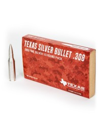 .308 Caliber Pure Silver Bullet Bullion (2 oz) *10-pack*