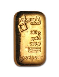 100 Gram Gold Bar (3.215 ozs, Any Mint)