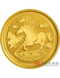 2014 Year of the Horse - Lunar Series II - 1/4 oz Gold