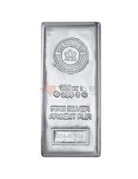 100 oz Royal Canadian Mint Silver Bars (.9999)