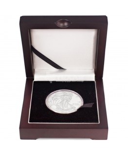 2018 American Silver Eagle Coin with Wooden Display Box