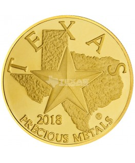 2018 Texas Gold Round *Box of 10* (SEALED)