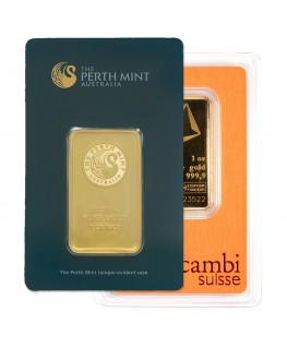 1 oz Gold Bars (Carded, Certified - Mint of Our Choice)