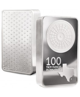 100 oz Texas Silver Bar