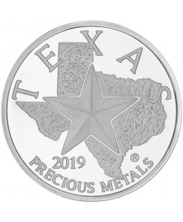 2019 Texas Silver Round *Tube of 25*