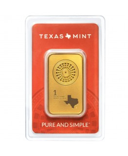 1 oz Texas Mint Gold Bar *Available March 2020*