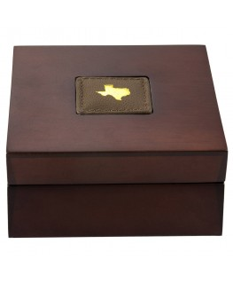 2021 Texas Gold Round with Wooden Display Case *Texas Edition*