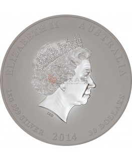 2014 Year of the Horse - Lunar Series II - Silver (1 Kilo, 32.15 ozs)