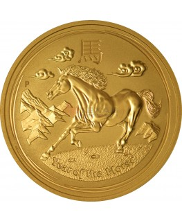2014 Year of the Horse - Lunar Series II - 1 oz Gold