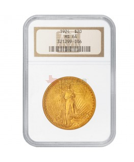 $20 Saint-Gaudens Gold Double Eagle - MS-64 PCGS/NGC (Dates Our Choice)