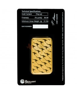 1 oz Perth Mint Gold Bars w/ Assay (25 oz Box)